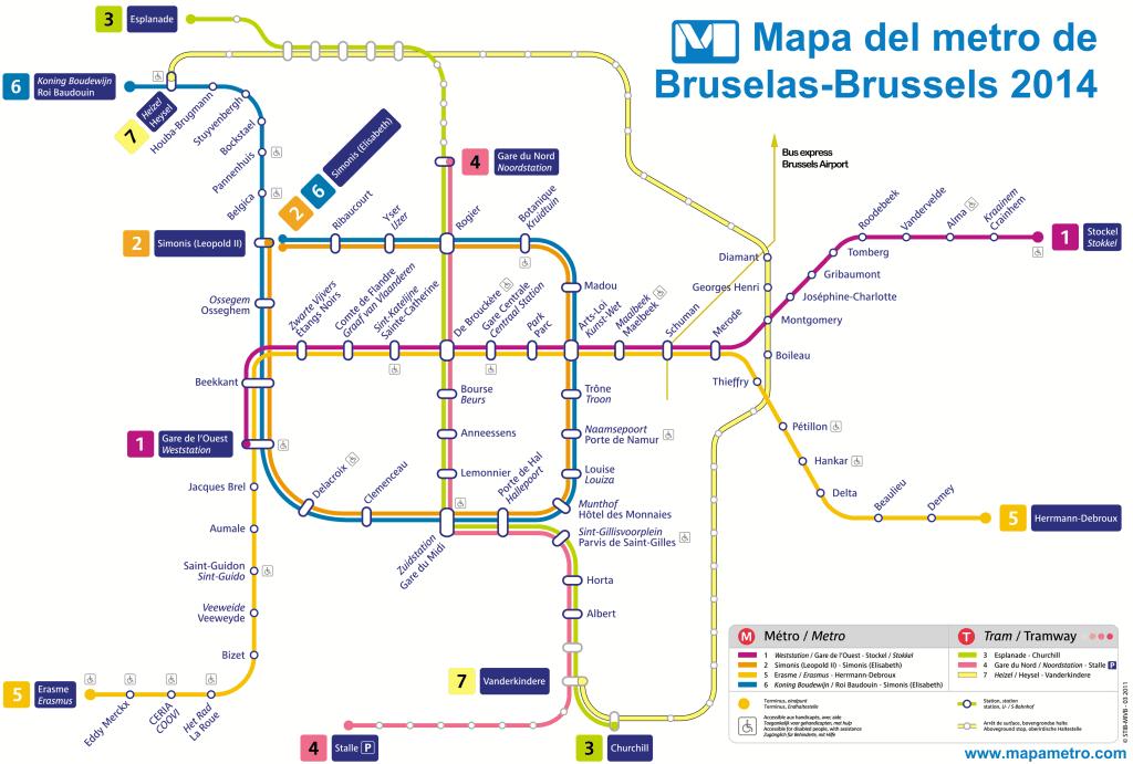 Mapa metro Bruselas