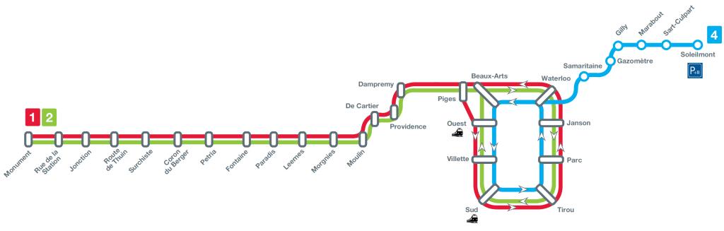 Mapa metro Charleroi
