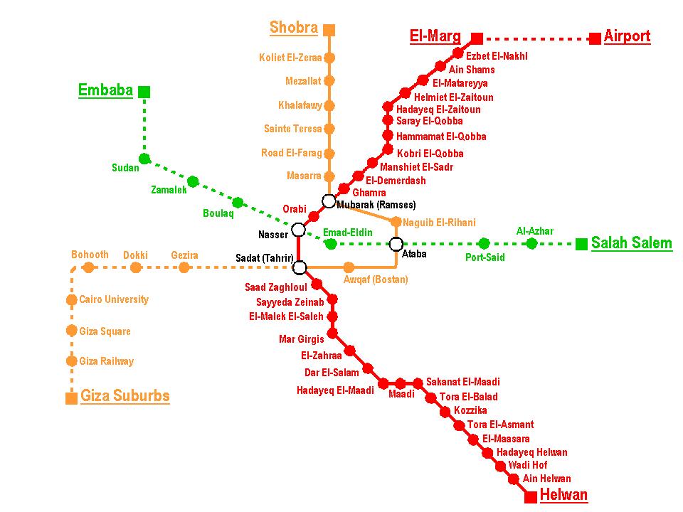 Otro mapa del metro de Cairo