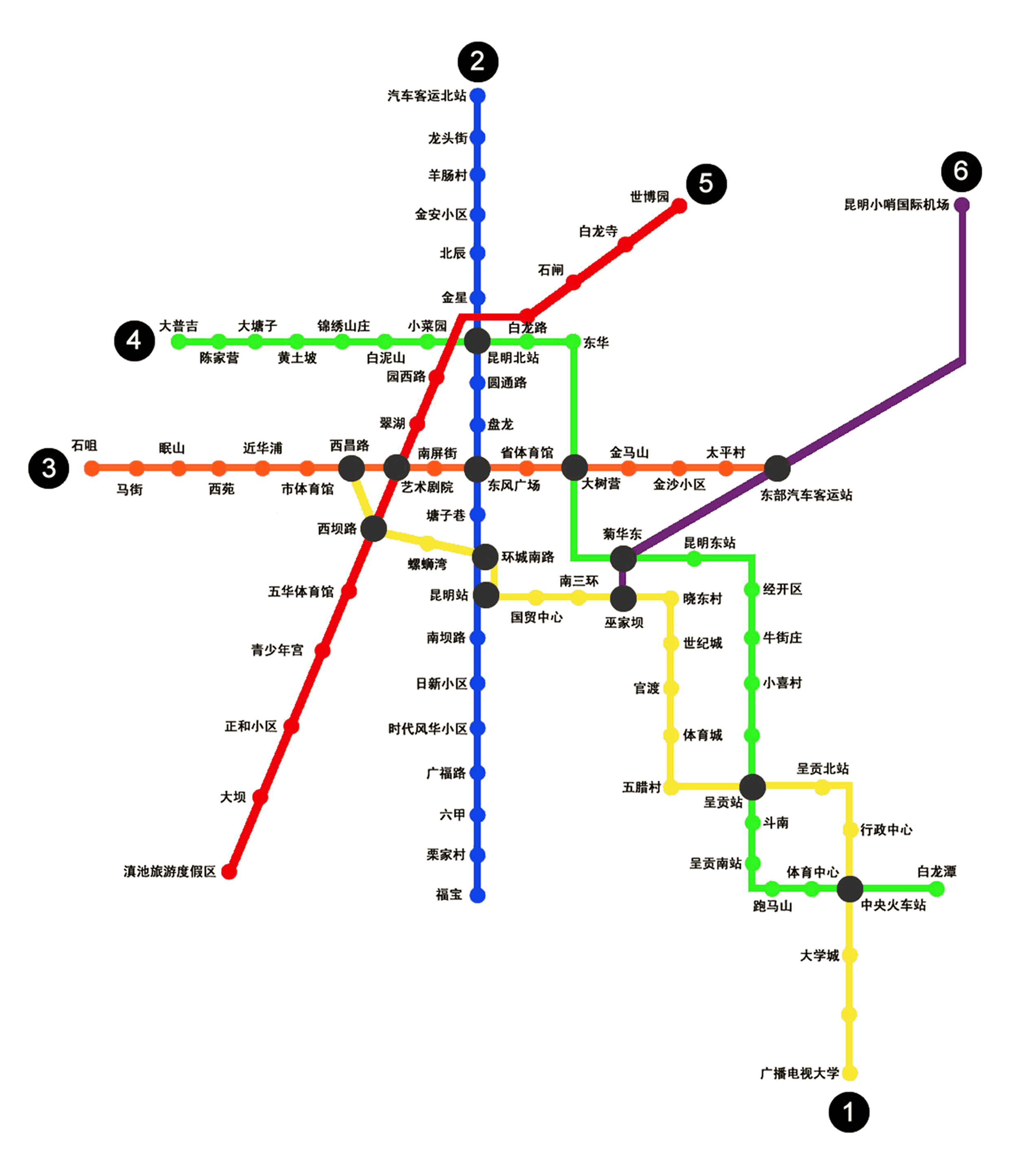 Mapa metro de Kunming