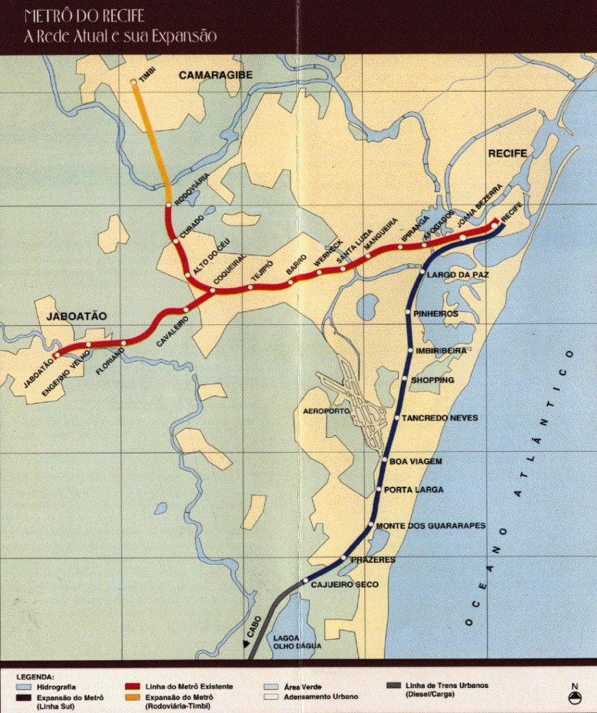 Mapa metro Recife