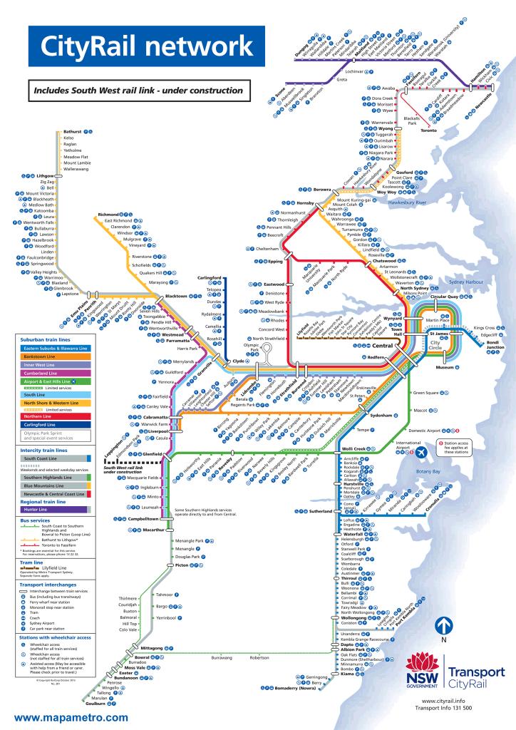 Mapa metro de Sídney