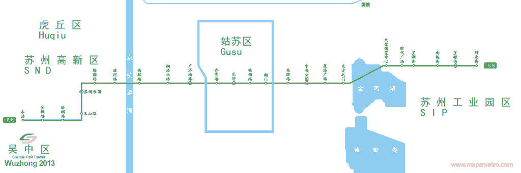 Mapa metro de Suzhou