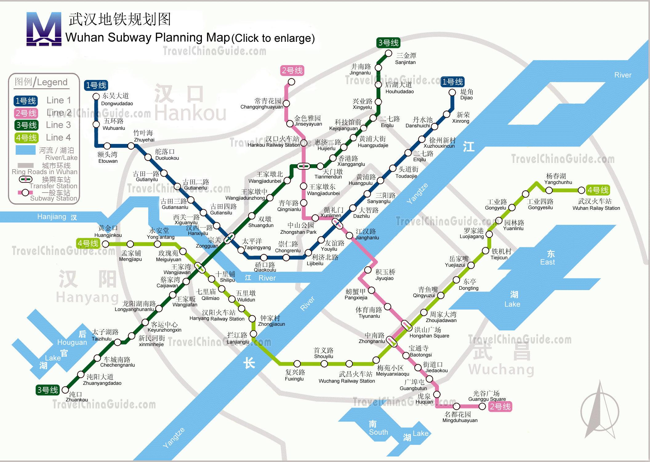 Mapa metro de Wuhan