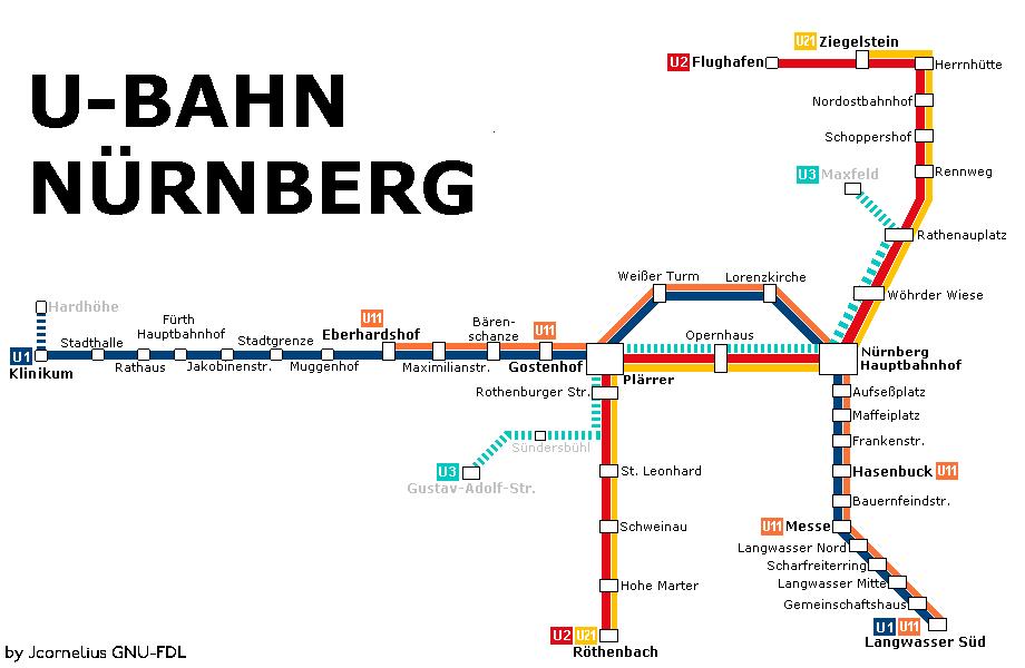 u Bahn Map Nuremberg Nuremberg Metro Map 6