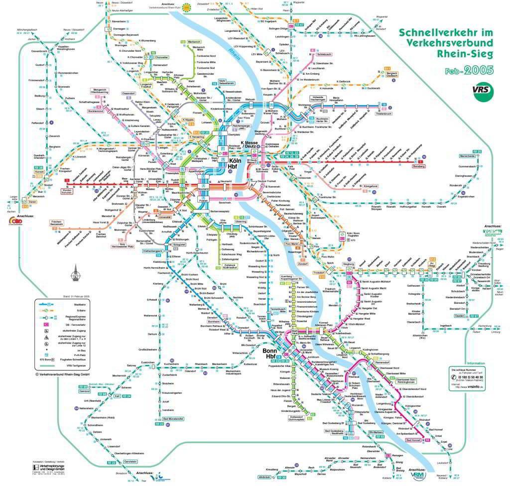 Mapa metro Colonia Cologne 4