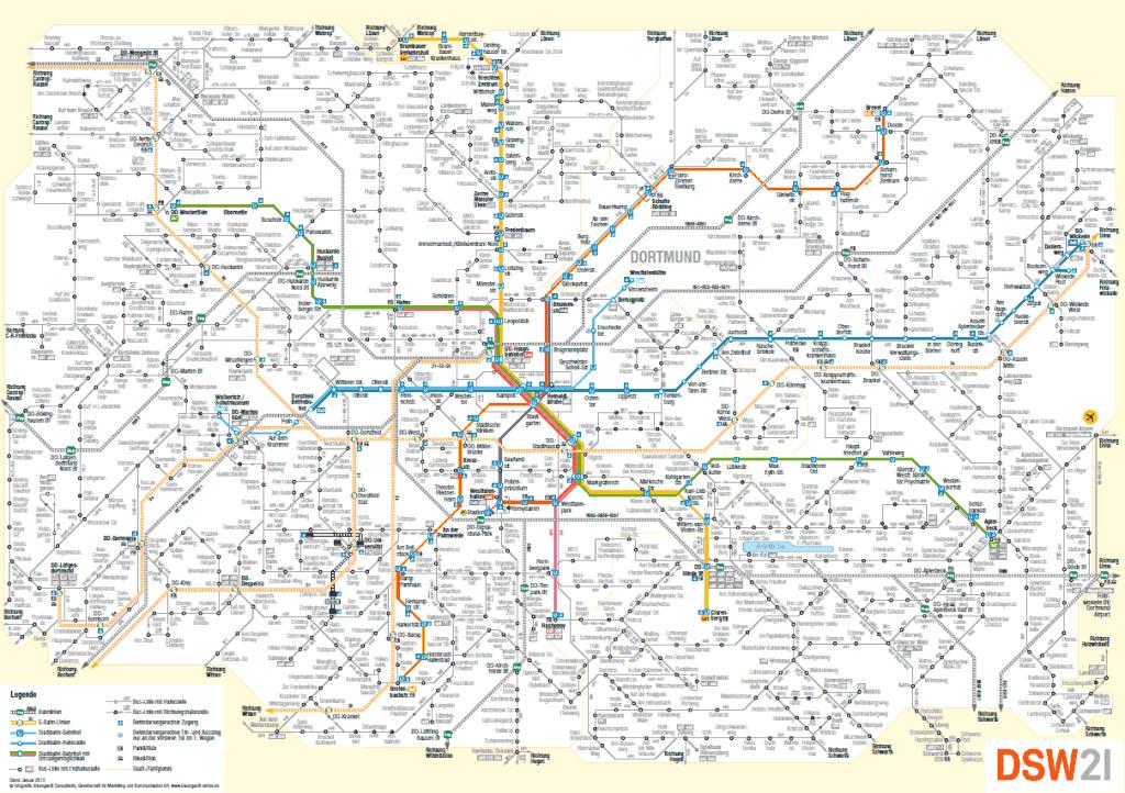 Mapa metro Dortmund 2