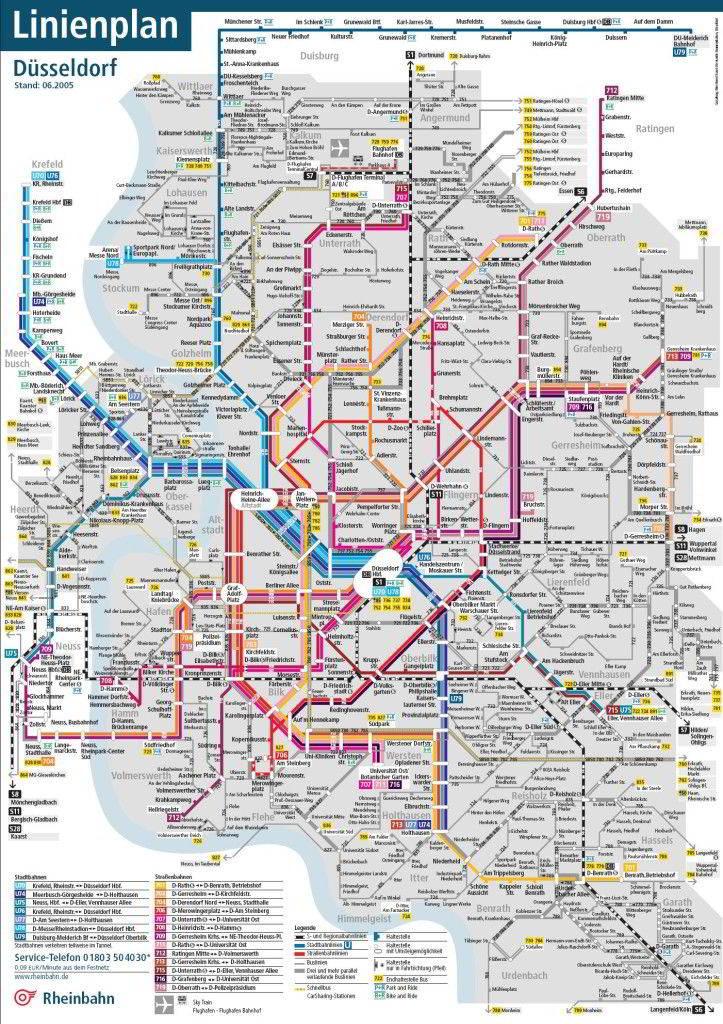 Mapa metro Duesseldorf 5