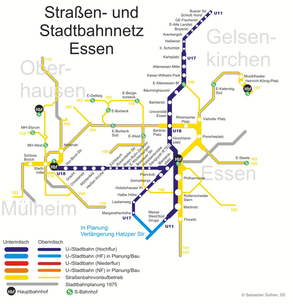 Mapa metro Essen 5