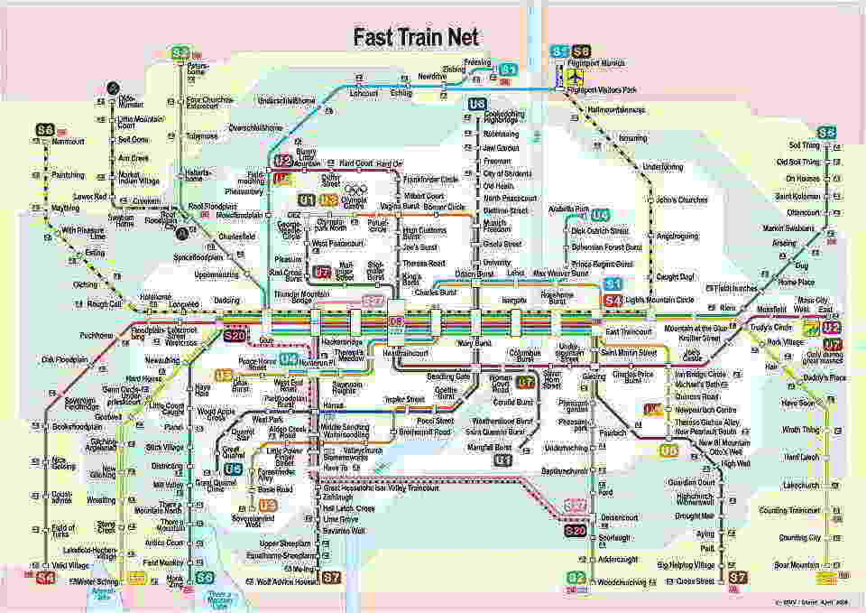 Munich Subway Map Munich UBahn Mapa Metro - Bus map munich