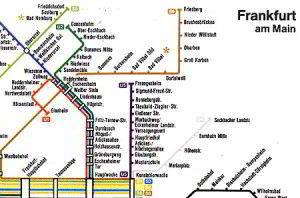 Mapa metro Frankfurt 3