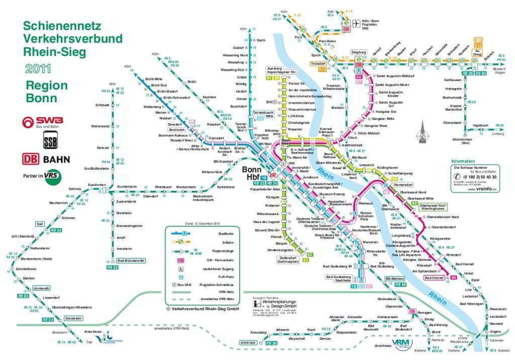 Mapa metro Bonn 3