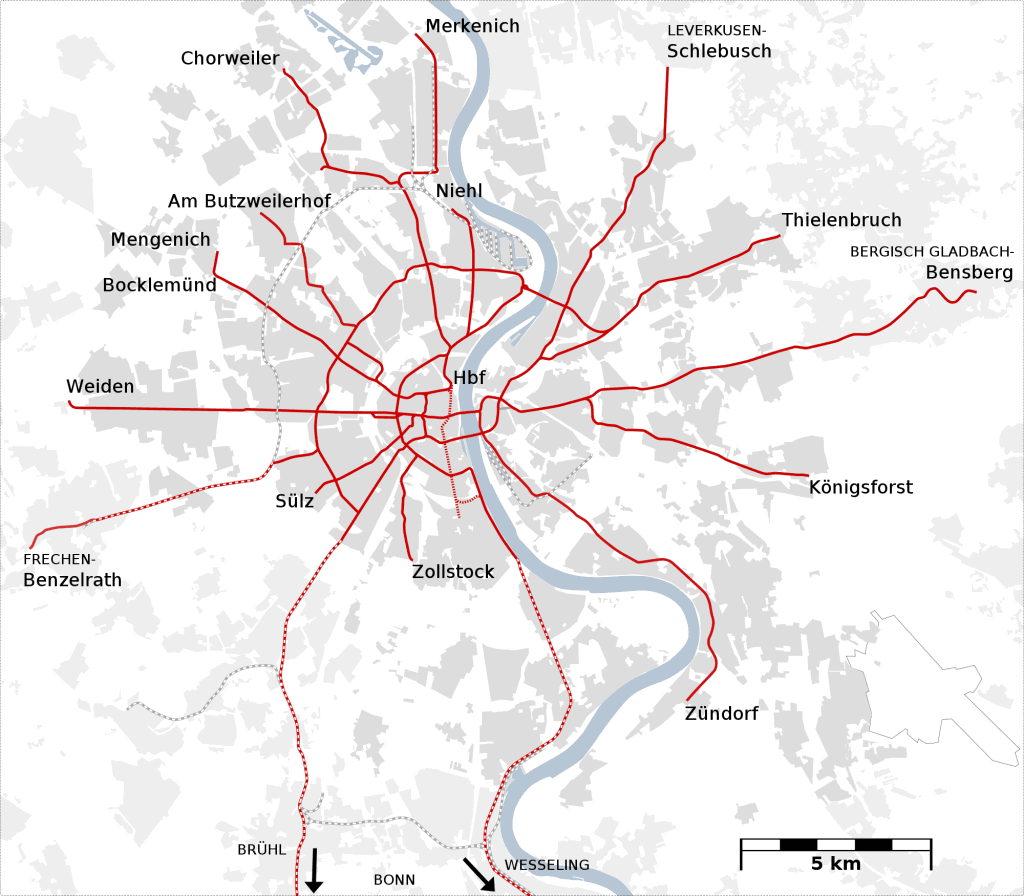 Mapa metro Colonia Cologne 5