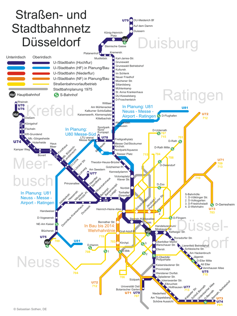 Mapa metro Duesseldorf 6