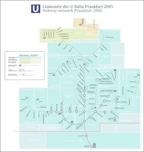 Mapa metro Frankfurt 4