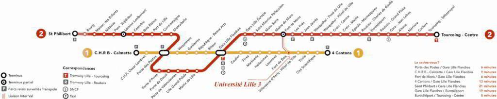 Mapa metro Lille (Lille Metro) 5