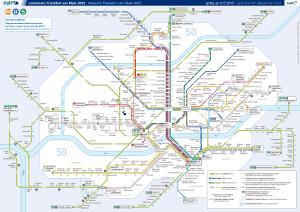 Mapa metro Frankfurt 6