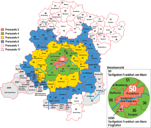 Mapa metro Frankfurt 15