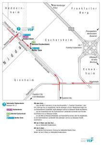 Mapa metro Frankfurt 13