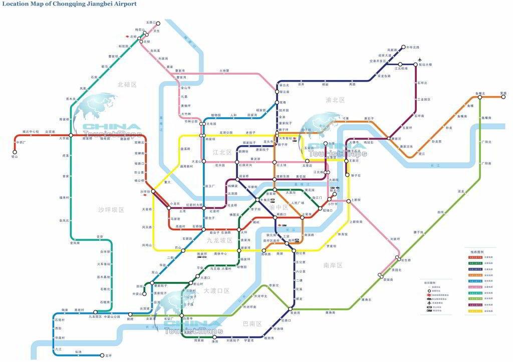 Mapa metro de Chongqing