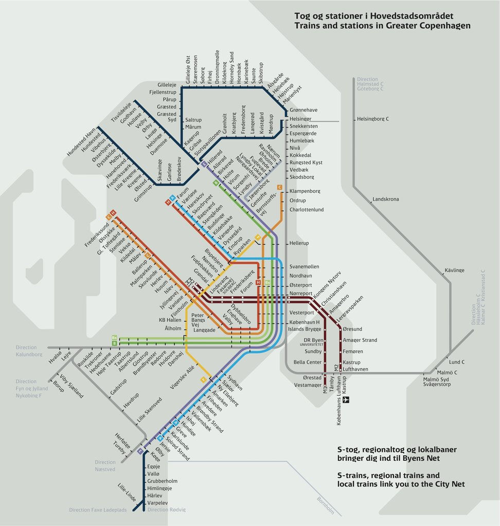 Subway Map Of Copenhagen.Map Of Copenhagen Metro S Train Mapa Metro