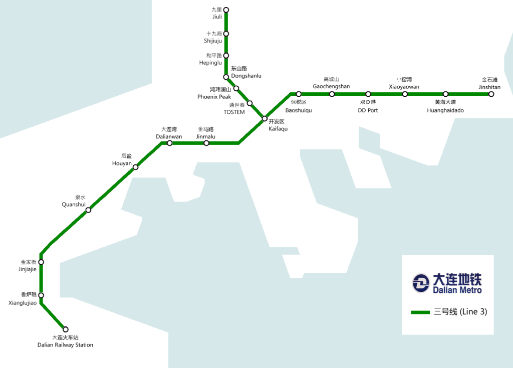 Mapa metro de Dalian
