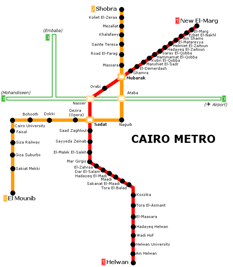 Subway Map of Cairo