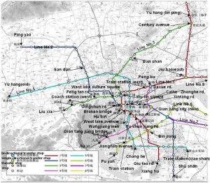 Mapa metro de Hangzhou