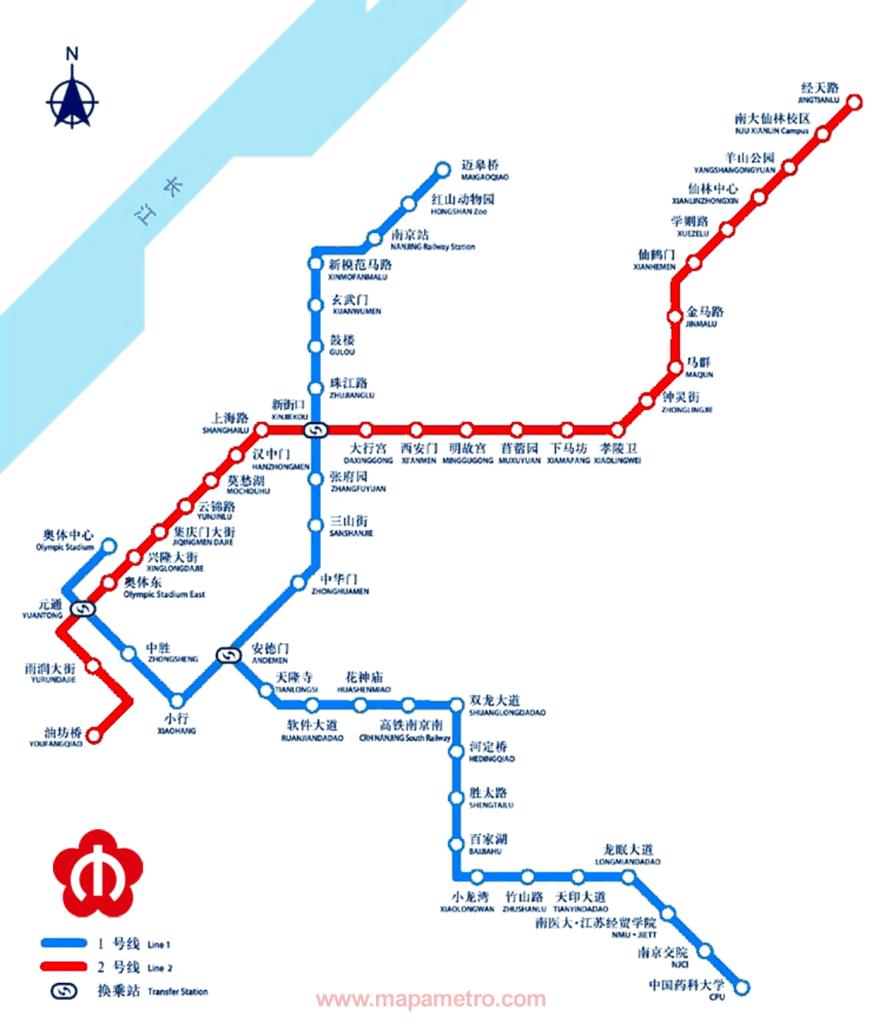 Mapa metro de Nanjing