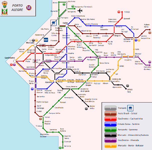 carte Metro Porto Alegre