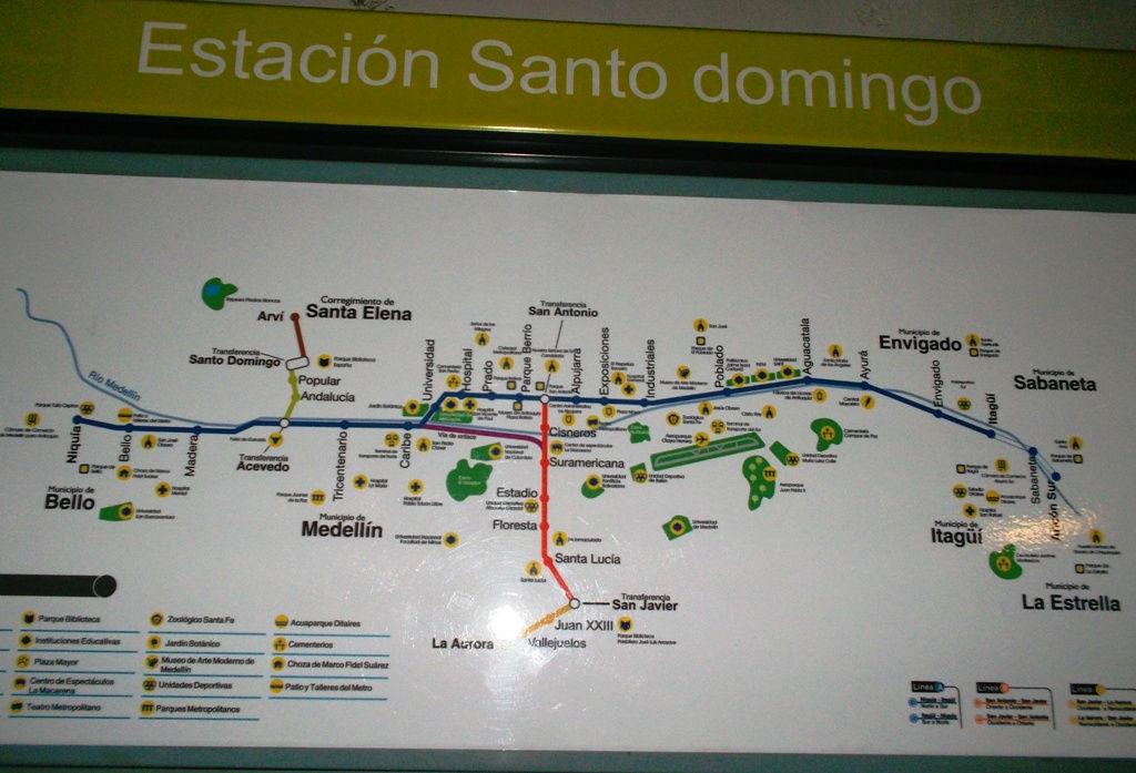 Mapa metro Santo Domingo (República Dominicana)