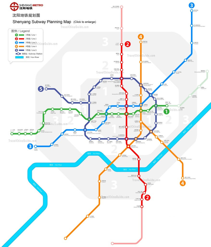 MAPA 드 심양 지하철