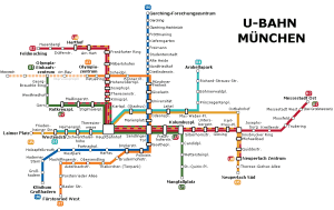 Munique mapa do metro 2015