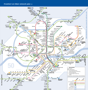 Mapa metros Frankfurt 1