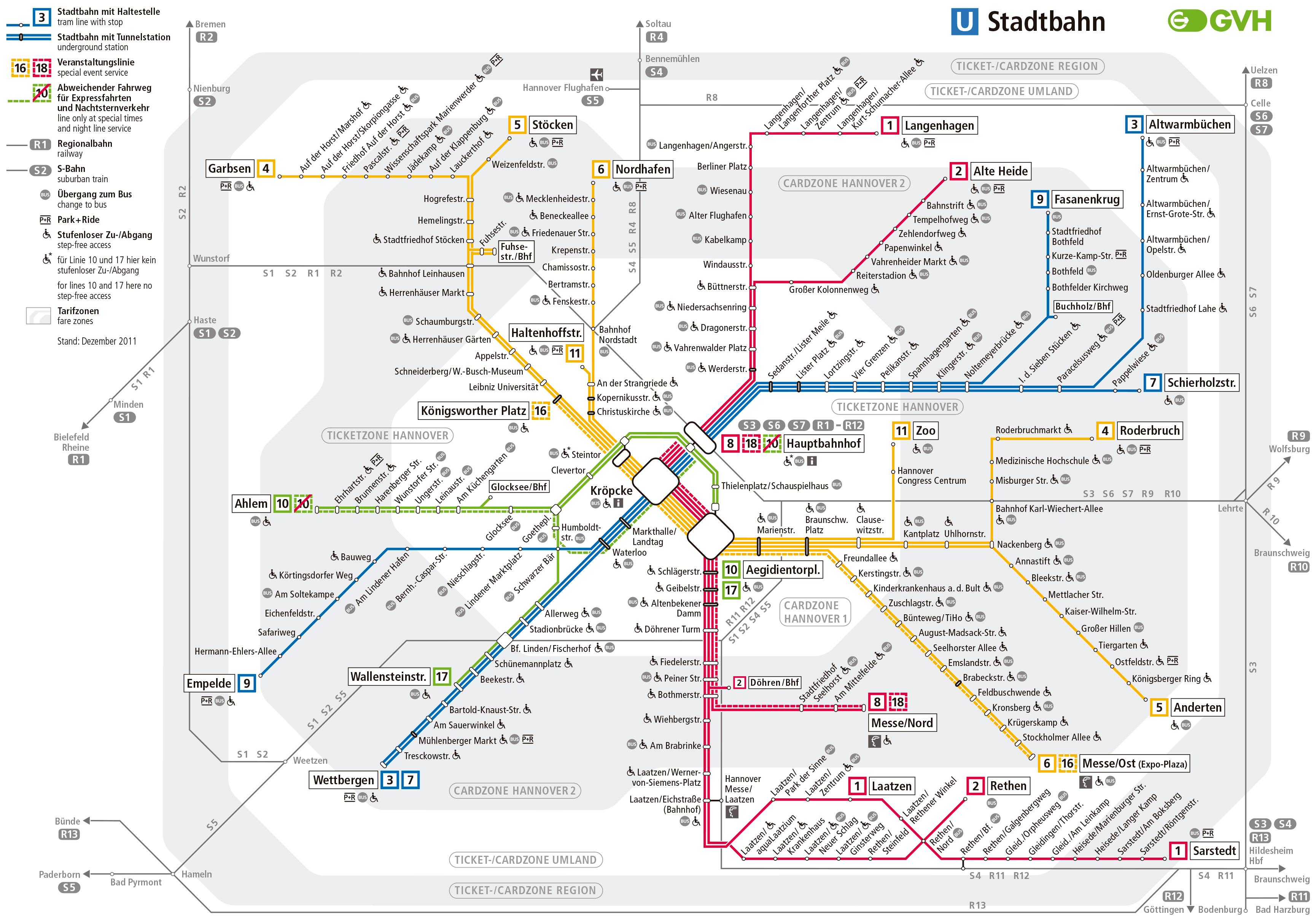 GermanyHanover metro Mapa Metro