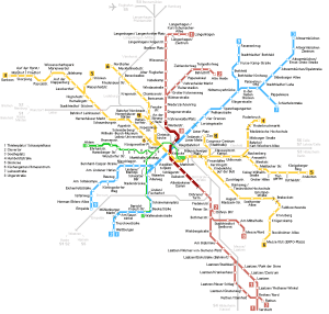 Hannover subway map 3