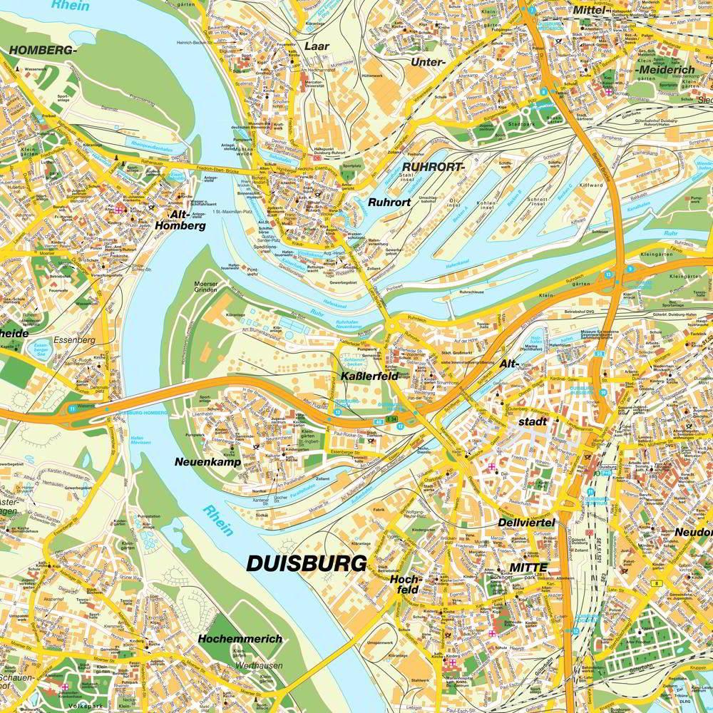 Mapa metro Duisburg 4