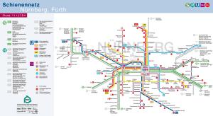 Nuremberg metro map 9