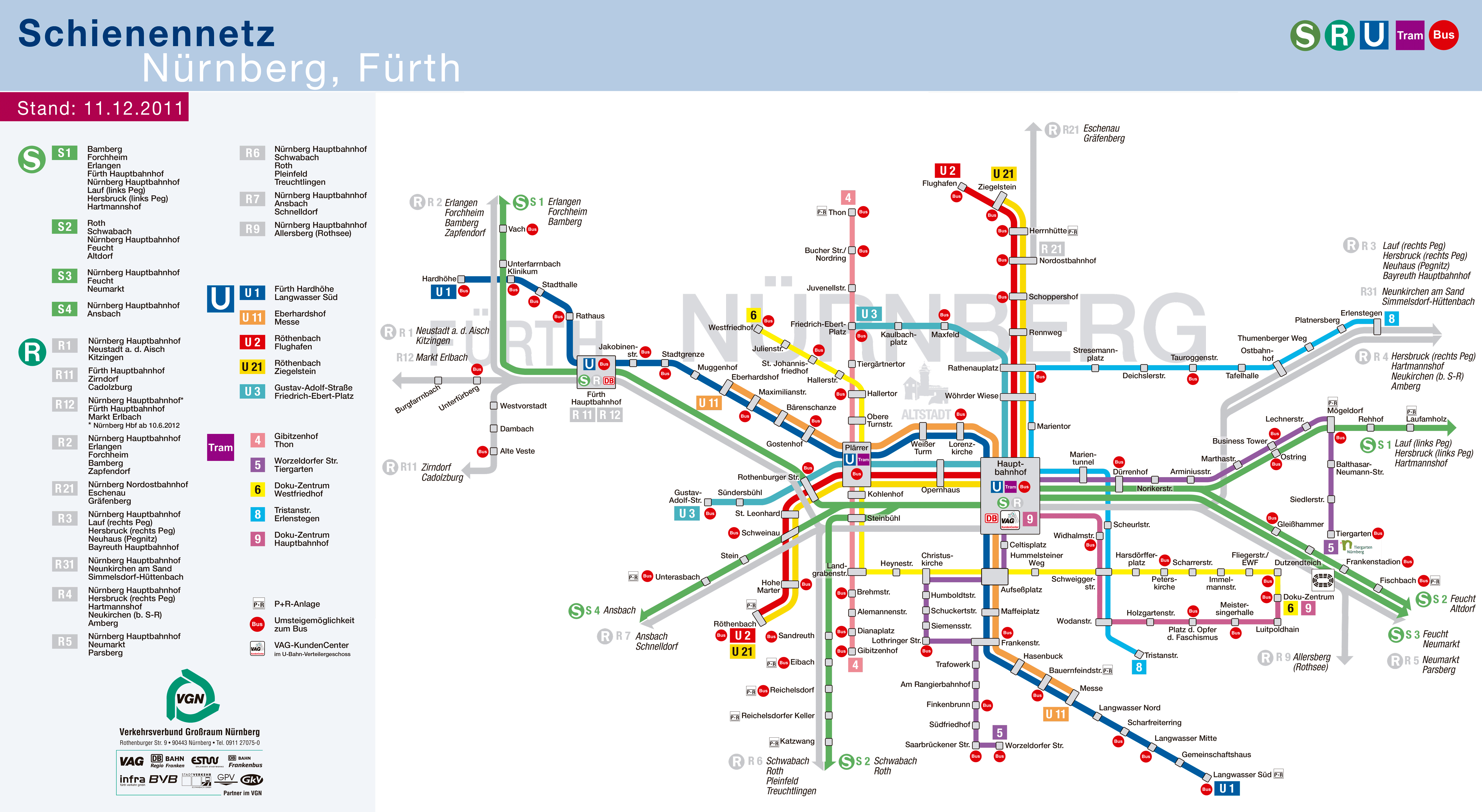Nuremberg Subway Map