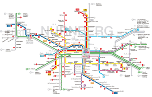 Nürnberg U-Bahn-Karte 10