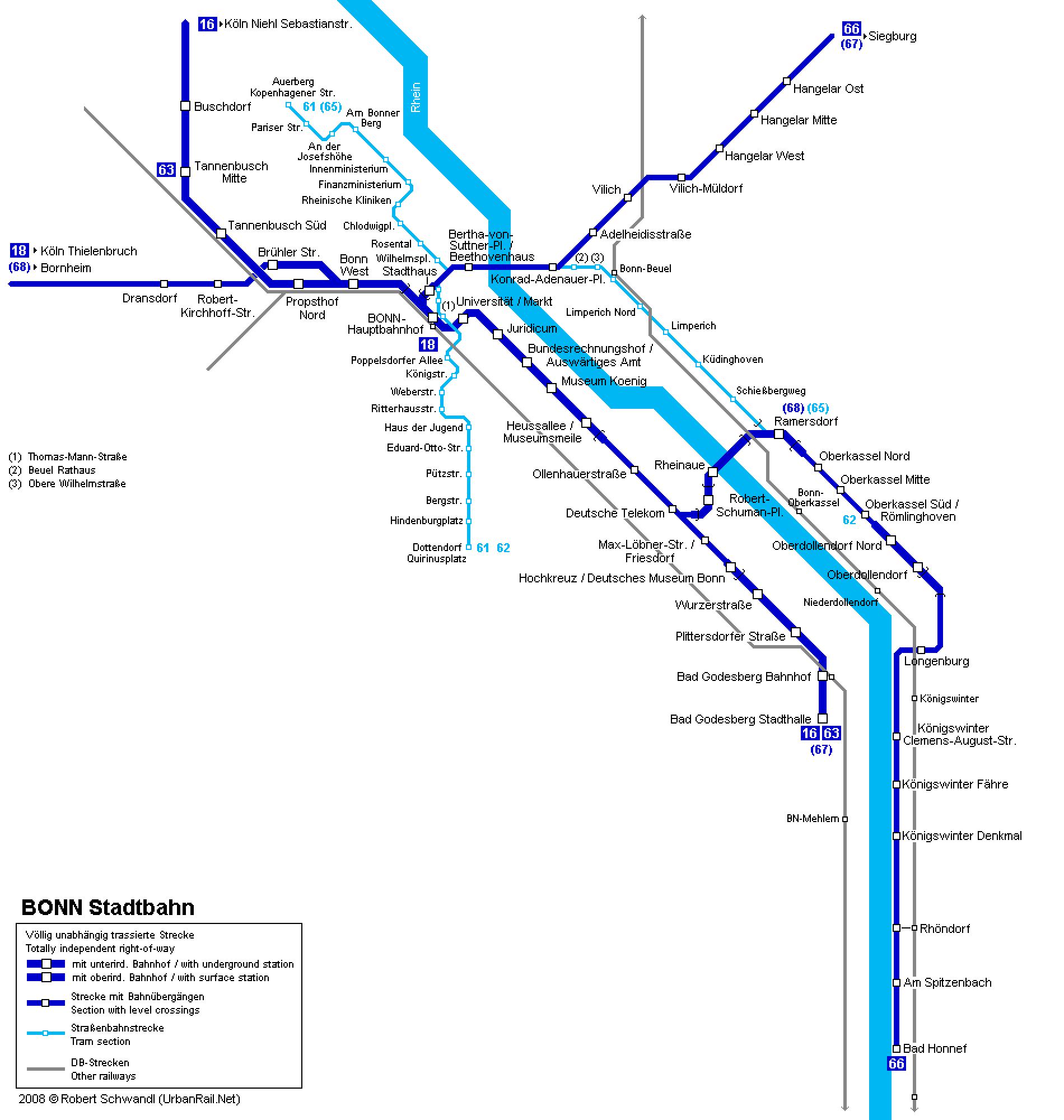 Mapa metro Bonn 2