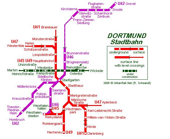 Mapa metro Dortmund 4