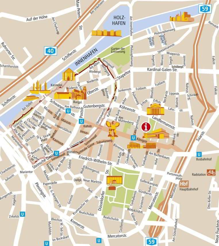 Mapa metro Duisburg 1