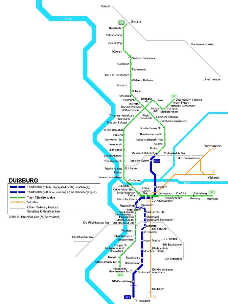 Mapa metro Duisburg 2