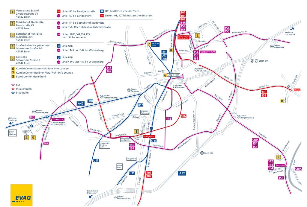 Mapa metro Essen 5 b