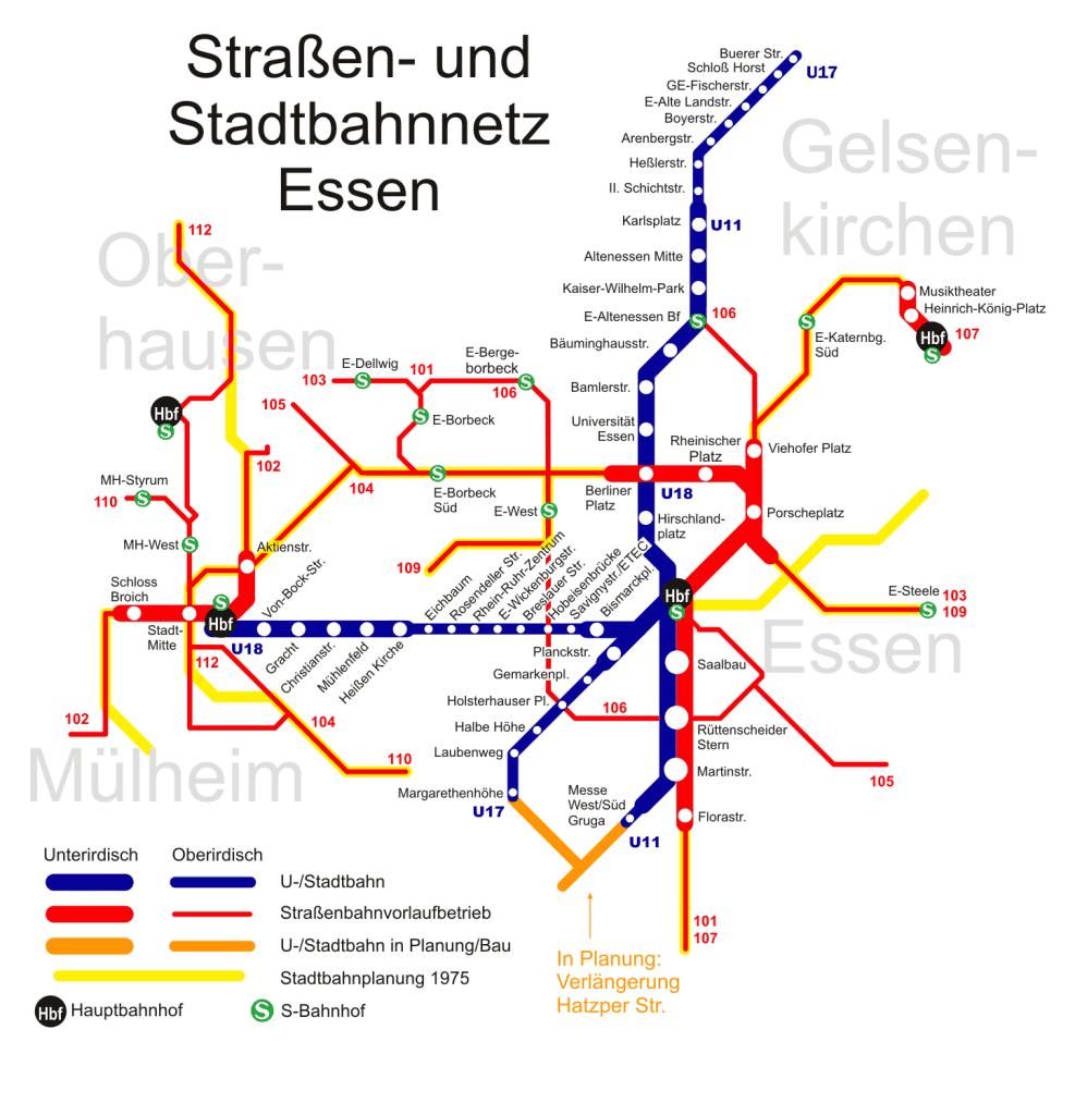 Mapa metro Essen 4