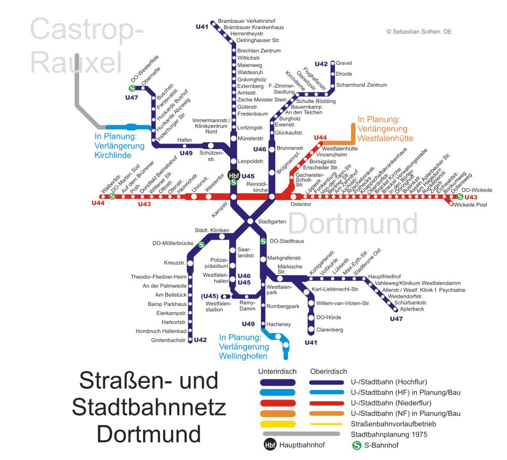 Mapa metro Dortmund 5
