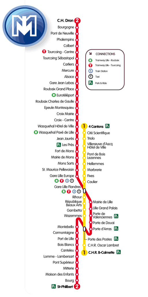 MAPA metro Lille (Metro Pequeno) 4