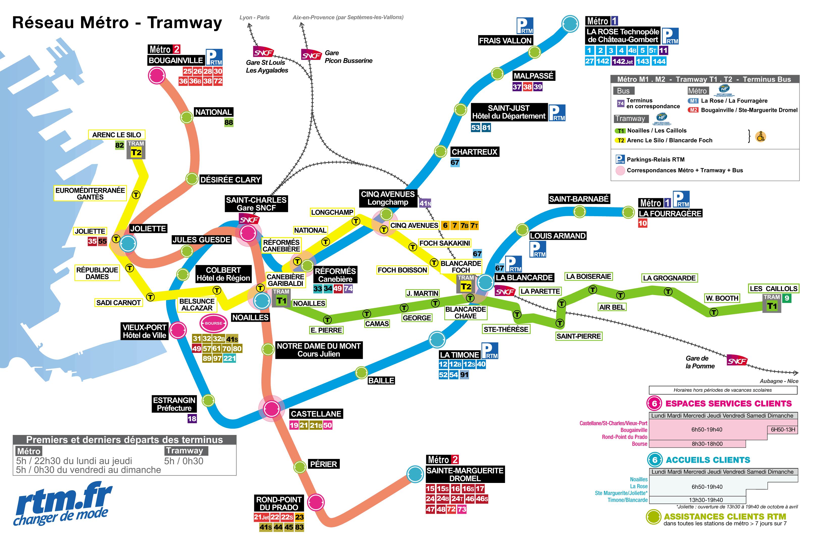 Marseille Subway Map
