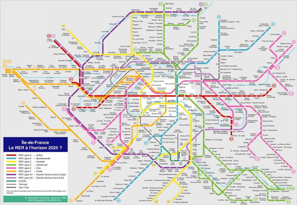mapa do metro de París 2